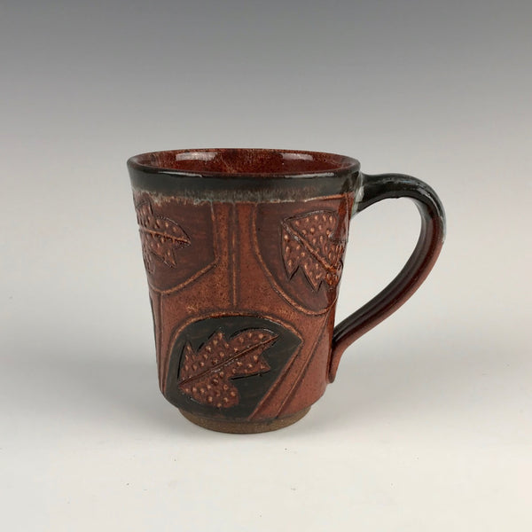 Peder Hegland mug, leaves