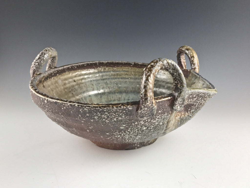 Arakawa Pottery large katakuchi bowl with handles