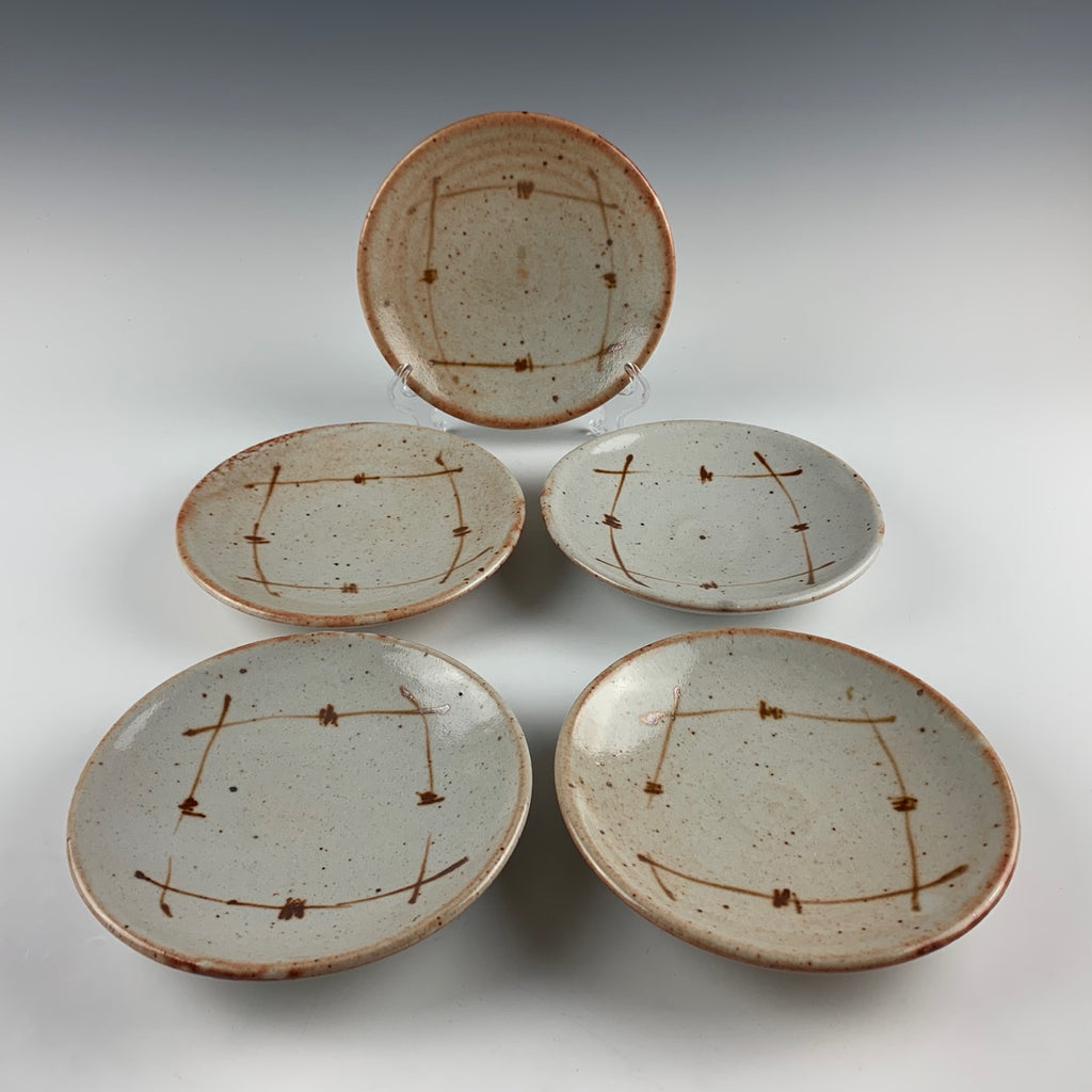 Warren MacKenzie plates, set of five