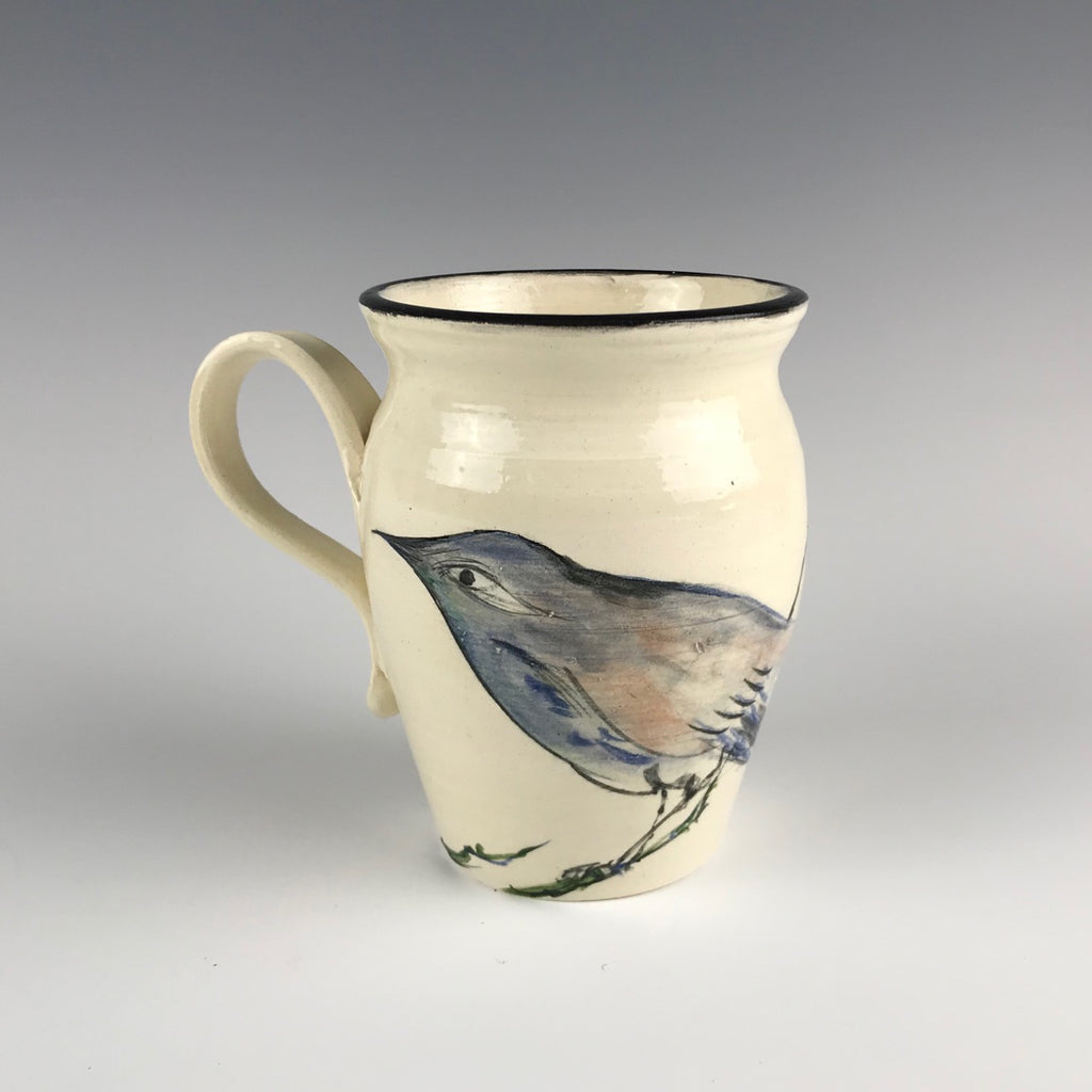 Michael Padgett mug with bird