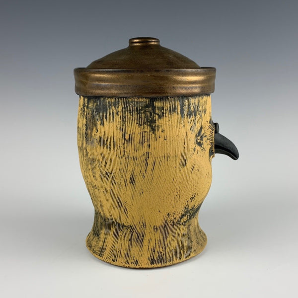 Ryan Myers bird lidded jar