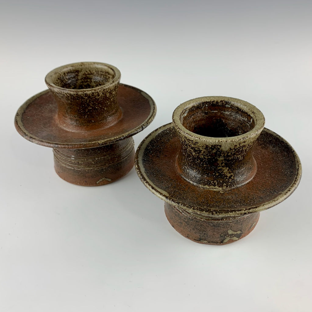 Warren MacKenzie candle holders, set of two