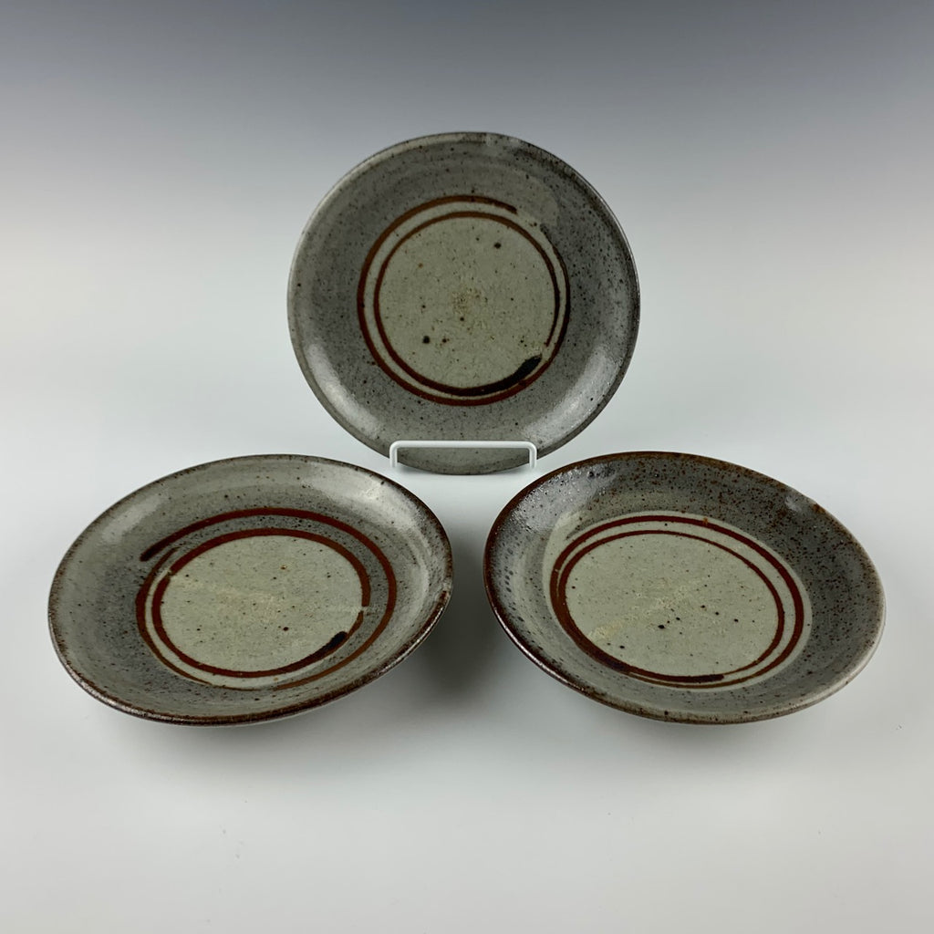 Jan McKeachie Johnston salad plates, set of three