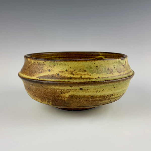 Warren MacKenzie banded serving bowl, marked
