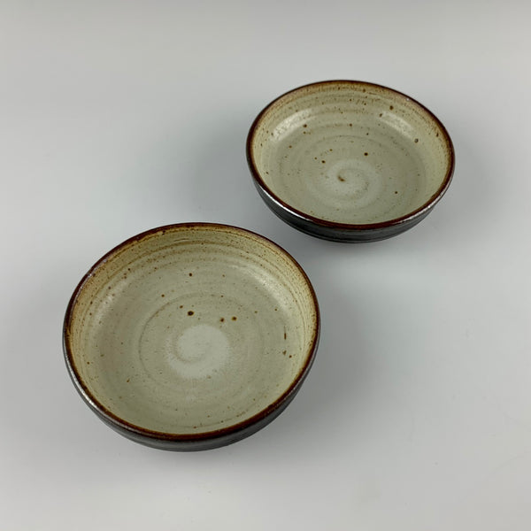 Willem Gebben low bowls, set #1, two bowls