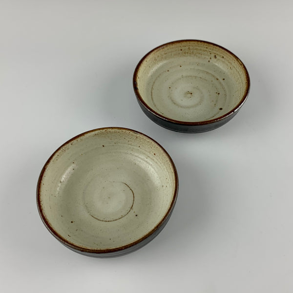 Willem Gebben low bowls, set #2, two bowls