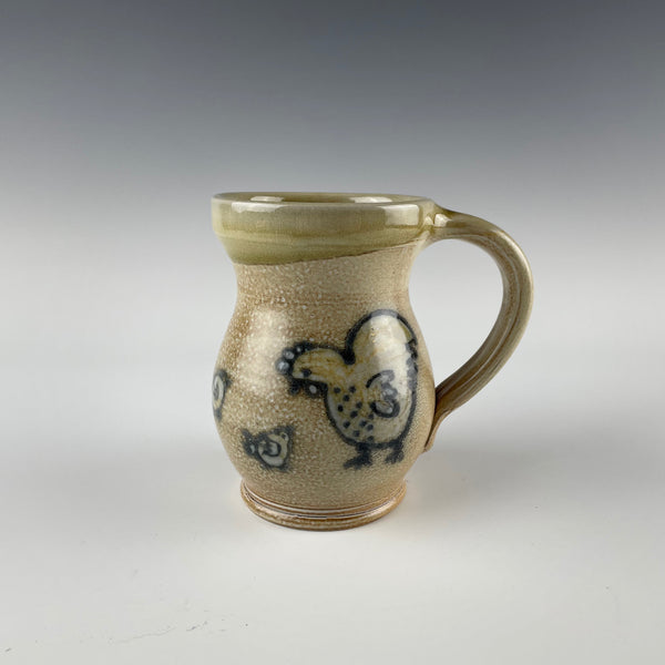 Pepin Farm Pottery mug, hen and chick