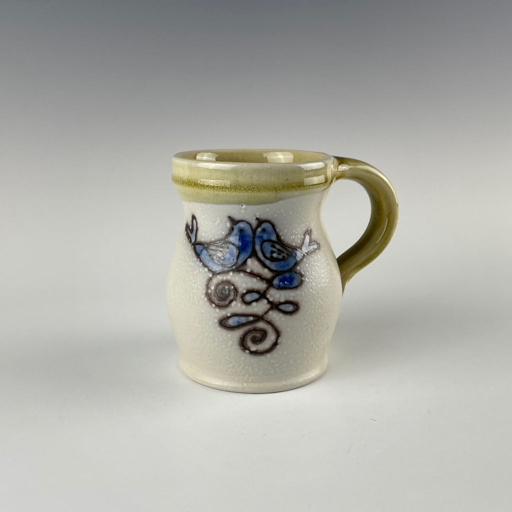 Pepin Farm Pottery mug, love bird 2