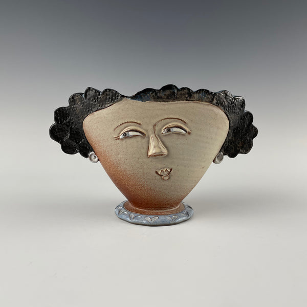 Pepin Farm Pottery vase, Open Minded Woman