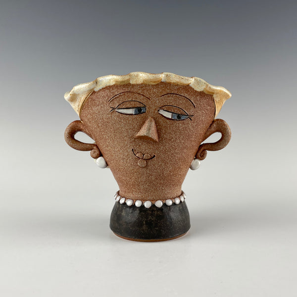 Pepin Farm Pottery vase, Open Minded Woman 2