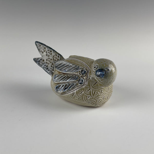 Pepin Farm Pottery bird rattle figure
