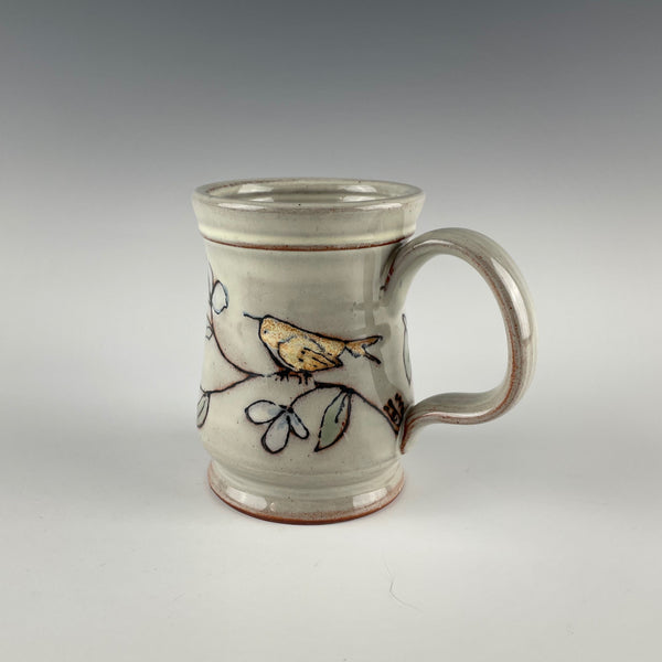 Pepin Farm Pottery mug, birds and branches 2