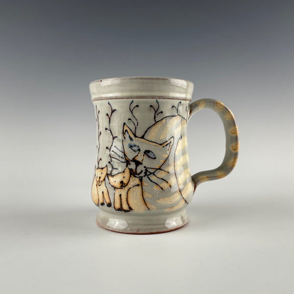 Pepin Farm Pottery mug, cats and kitties