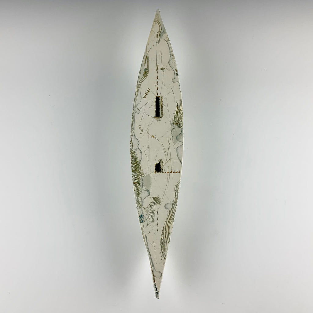 "Barbara Strassberg wall boat #1 ""Lost on Land"""