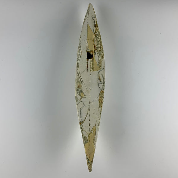"Barbara Strassberg wall boat #2 ""Lost on Land"""