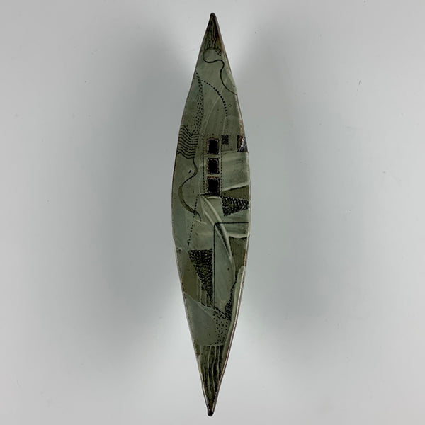 "Barbara Strassberg wall boat #6 ""Lost on Land"""