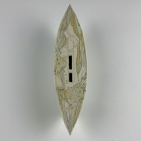 "Barbara Strassberg wall boat #7 ""Lost on Land"""