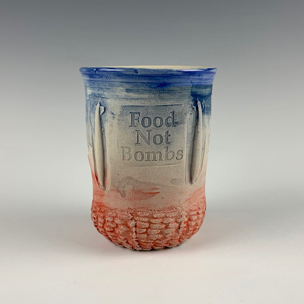 "Ehren Tool cup, ""Food not bombs"""
