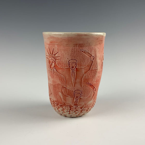 Ehren Tool cup, decapitating lady liberty