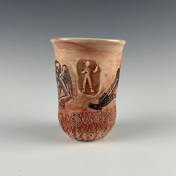 Ehren Tool cup, bearded angel with hour glass and scythe