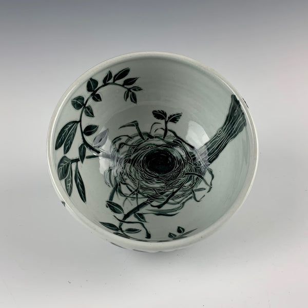 "Glynnis Lessing bowl, ""Empty Nest"""