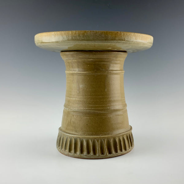 Willem Gebben stoneware bird bath