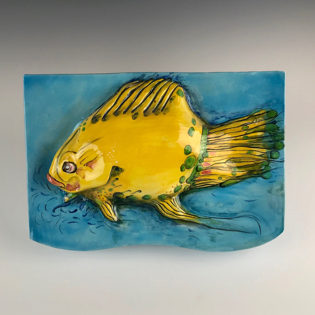 Michael Padgett wall relief, Fish #5