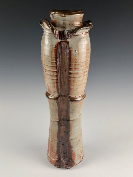 Kevin Caufield tall woodfired vase
