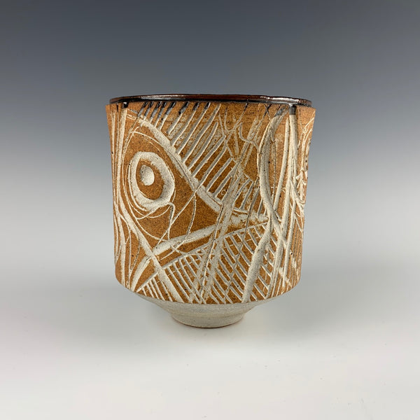 Gerry Williams carved vase