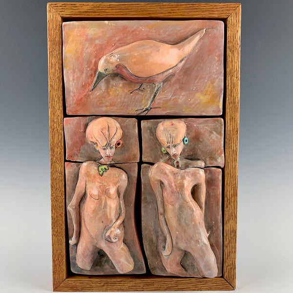 "Michael Padgett ""Two Figures with Bird #3"""