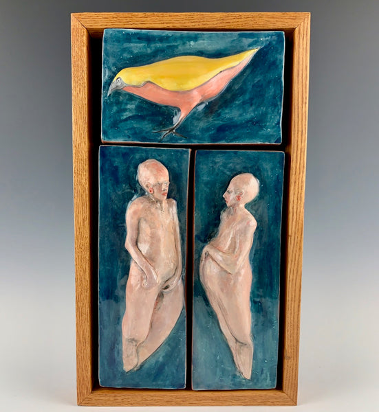 "Michael Padgett ""Two Figures with Bird #1"""