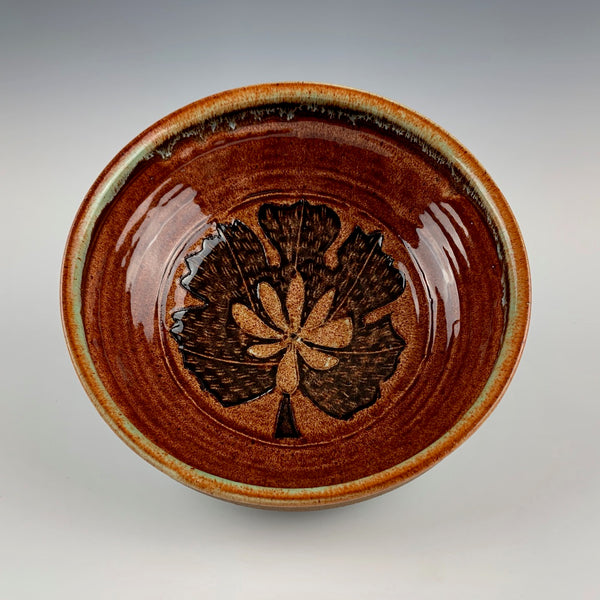 Peder Hegland medium bowl, bloodroot