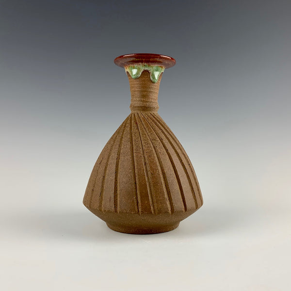 Peder Hegland incised vase