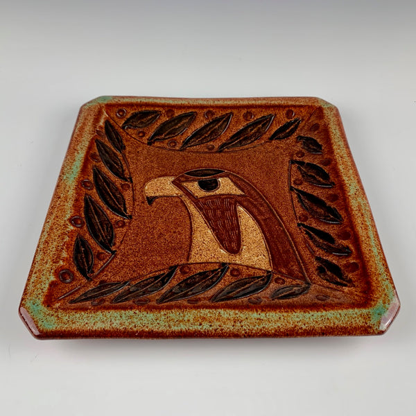 Peder Hegland tray with hawk profile