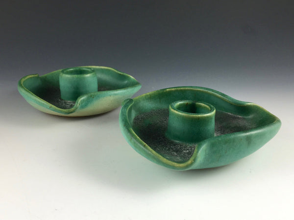 Shearwater Pottery candlestick set