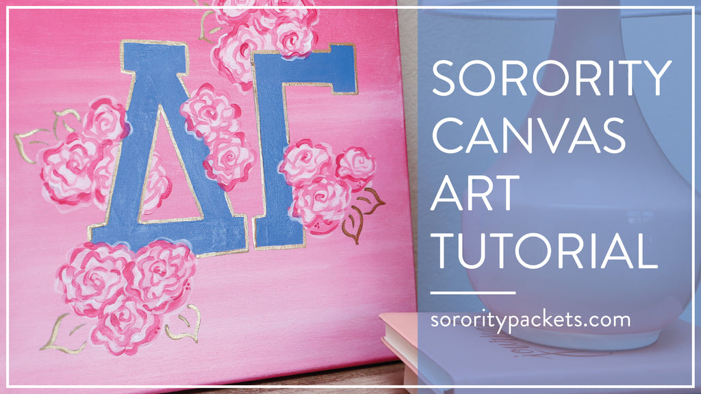 DIY Sorority Canvas Tutorial: How to Make a Greek Canvas for Your Little or Big!