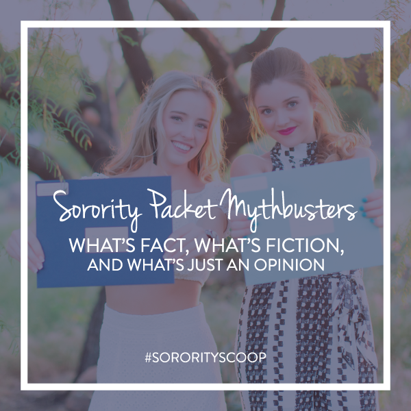 Do you still need to send printed sorority packets? Sorority Packet Mythbusters!