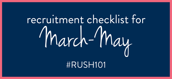What to do for Sorority Recruitment in March-May
