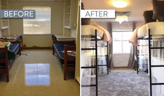 Behind the scenes of a dramatic Texas State dorm transformation that went viral!