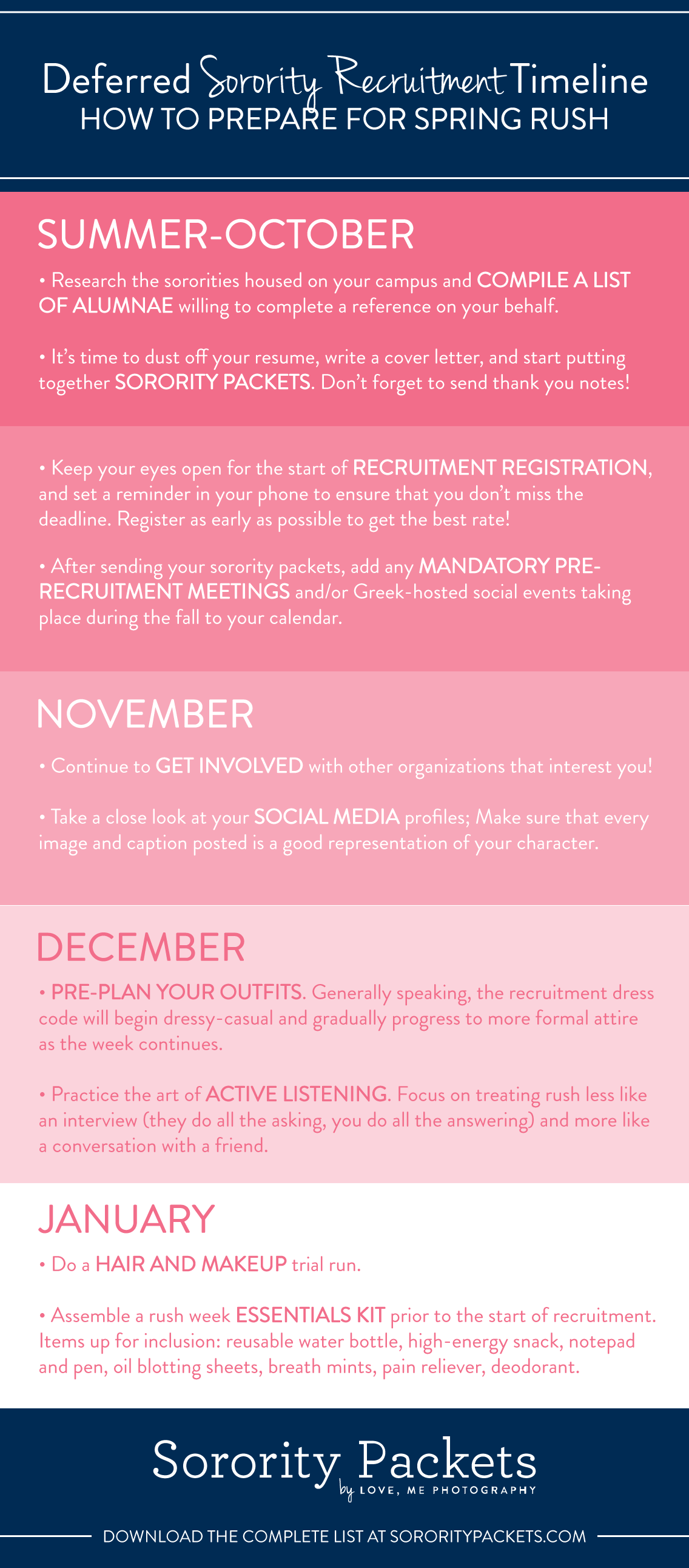 Deferred Recruitment 101 How To Prepare For Spring Rush Sororitypackets Com
