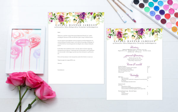 How To Format A Sorority Resume And Cover Letter (plus The Cutest Free  Fonts!)