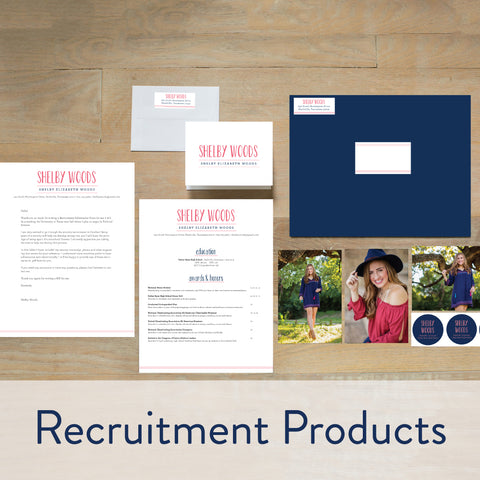 Sorority Recruitment Products