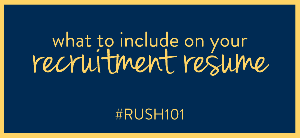 Weu0027re Continuing Our Conversation About All Things Sorority Recruitment  With Todayu0027s Post On Creating The Perfect Sorority Resume For Your Sorority  Packet.  Sorority Recruitment Resume