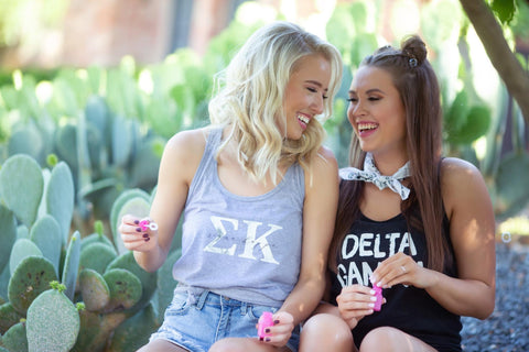 Sorority Sisters in Greek Tanks
