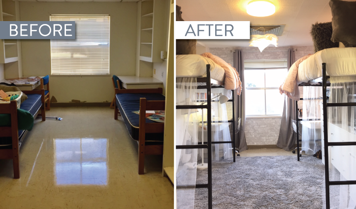 Dramatic Texas State Dorm Transformation That Went Viral