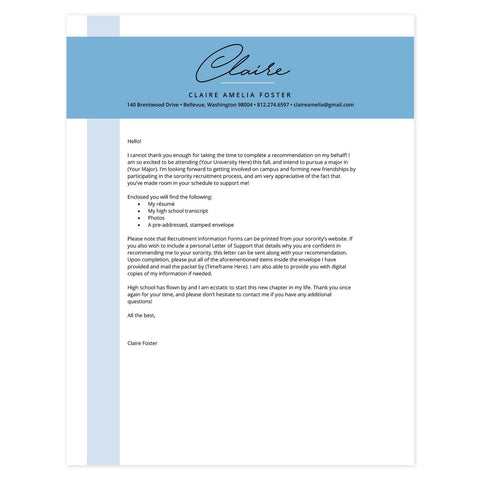 Color Block Bluebell Microsoft Word Template