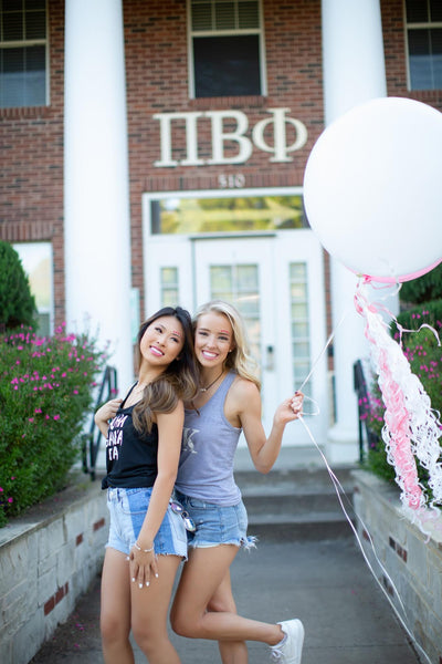 Sorority girls at Pi Beta Phi house