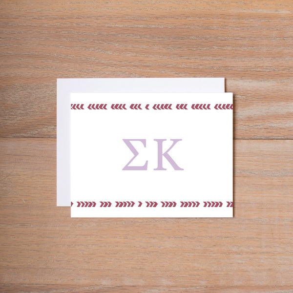 Sigma Kappa Boho Sorority Note Card