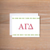 Alpha Gamma Delta Boho Sorority Note Card