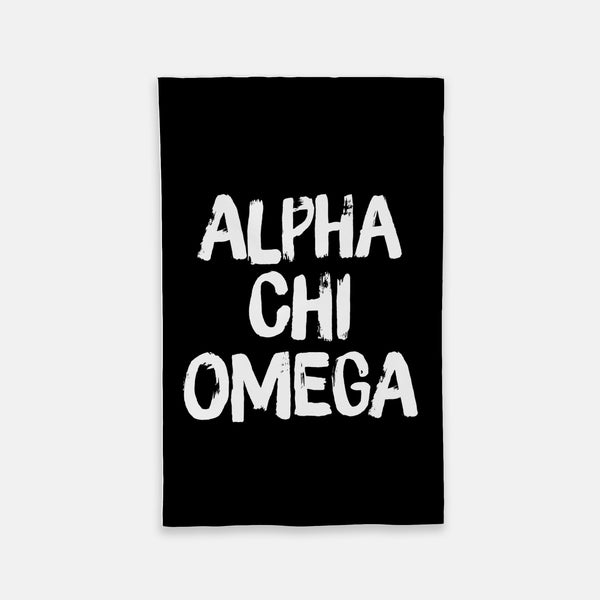 Alpha Chi Omega Black Vertical Sorority Flag
